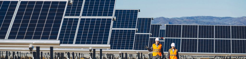 Solar power station and engineers